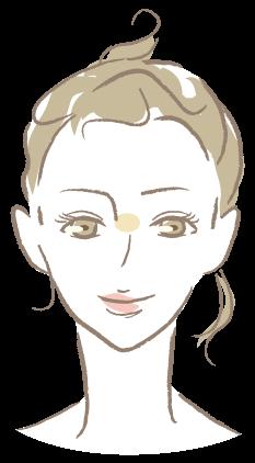鼻根部のシワ(バニーライン)